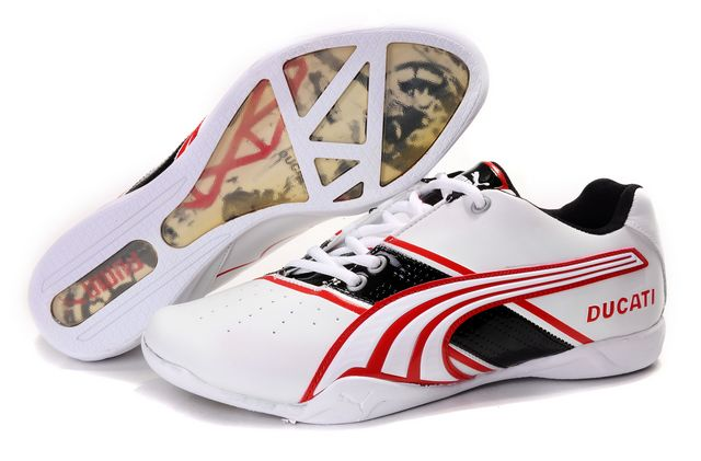 Puma Ducati Shoes White/Black/Red