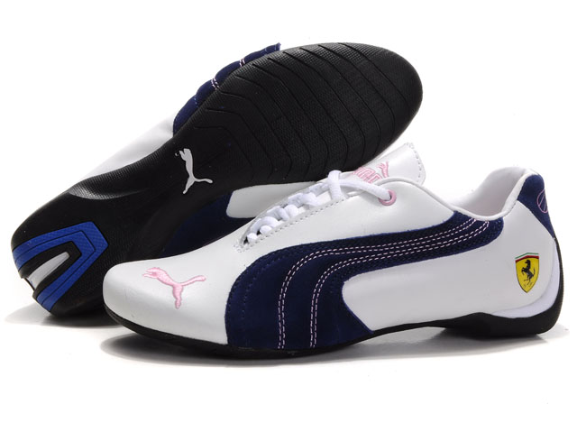 Women's Puma Engine Cat Low Shoes White/Pink
