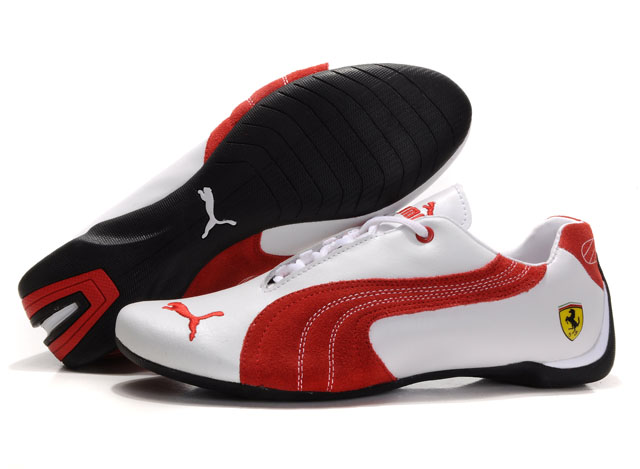 Puma Engine Cat Low Shoes White/Red