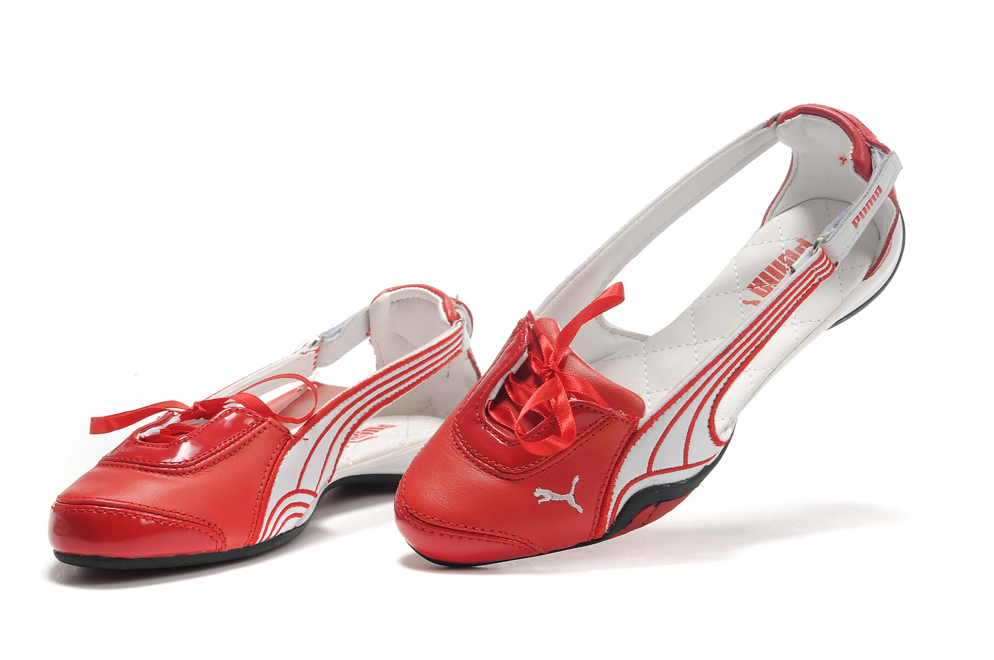 Puma Espera Ballerina Flats Red/White