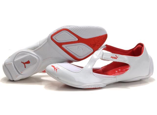 Puma Espera Flat White Red