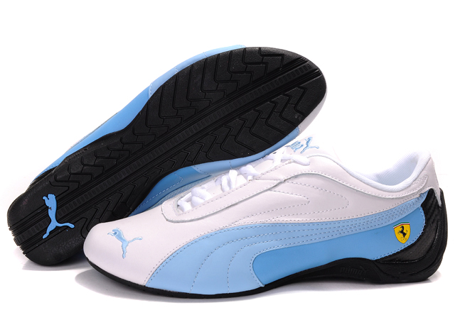 Puma Ferrari Athletic Shoes White/SkyBlue