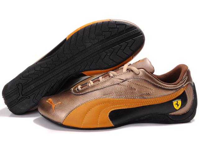 Puma Ferrari Athletic Shoes Brown/Orange/Black