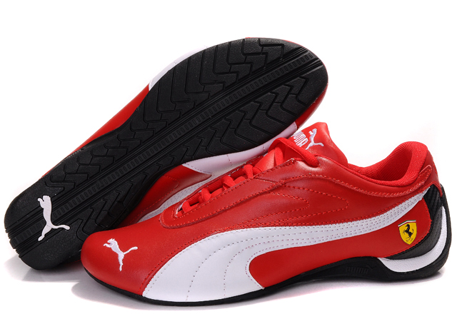 women 39 s puma ferrari athletic shoes red white black puma. Black Bedroom Furniture Sets. Home Design Ideas