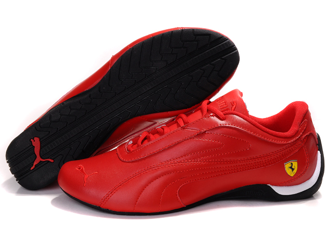 Puma Ferrari Athletic Shoes Red