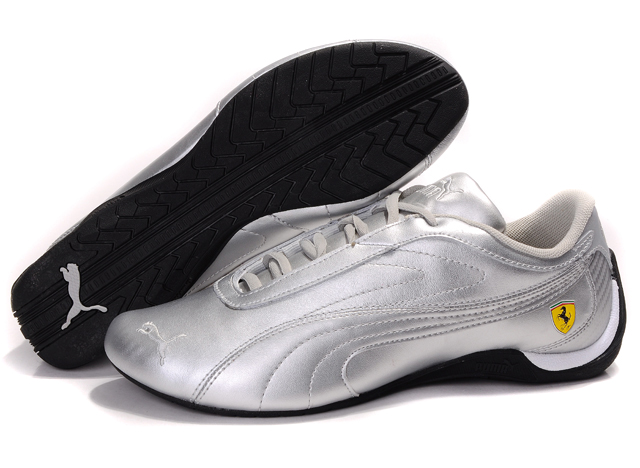 Men's Puma Ferrari Athletic Shoes Silver