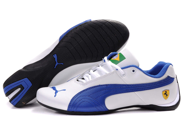 Puma Ferrari Brazil Shoes White/Navy