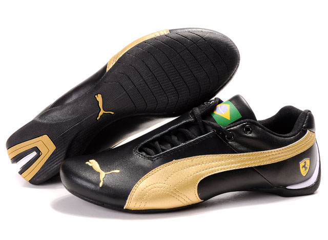 Puma Ferrari Brazil Shoes Black/Gold