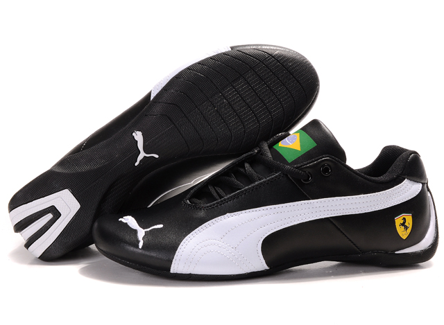 Men's Puma Ferrari Brazil Shoes Black/White