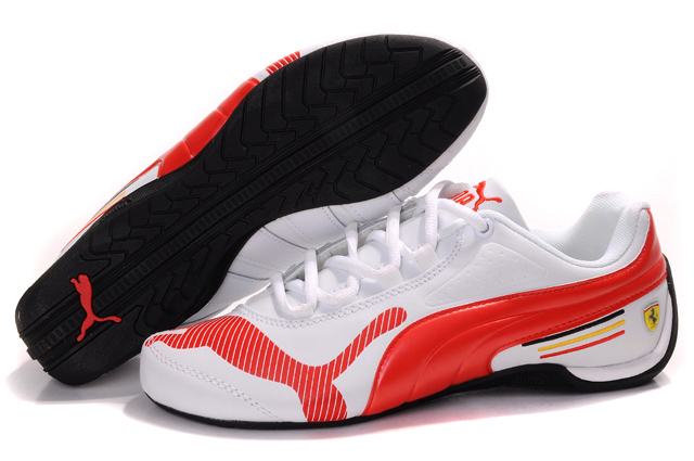 Puma Ferrari Edition Shoes White/Red