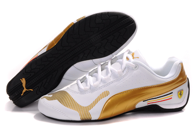 Women's Puma Ferrari Edition Shoes White/Gold