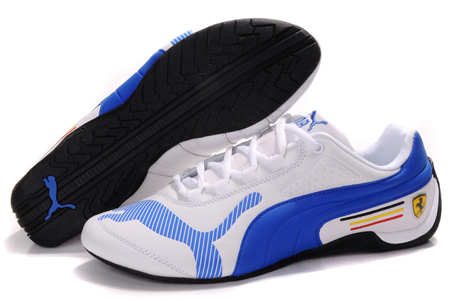 Women's Puma Ferrari Edition Shoes White/Blue