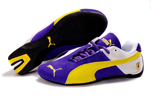 Puma Ferrari Fluxion II shoes Navy/Beige/Yellow