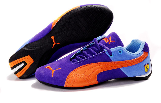 Puma Ferrari Fluxion II shoes Purple/Skyblue/Orange
