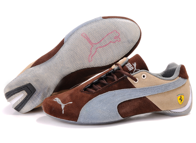 Puma Ferrari Induction Shoes Beige/Brown/Grey