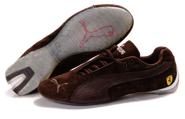 Puma Ferrari Induction Shoes Brown