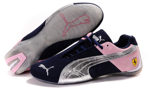 Puma Ferrari Induction Shoes Navy/Pink/Silver