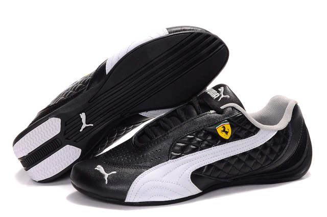 Women's Puma Ferrari Induction Sneakers Black/White