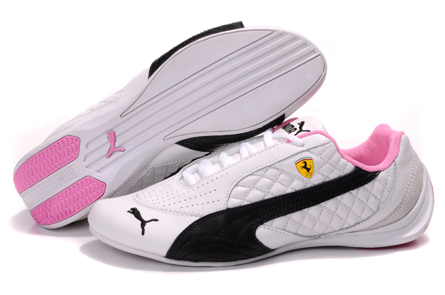 Women's Puma Ferrari Induction Sneakers White/Black/Pink