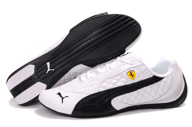 Women's Puma Ferrari Induction Sneakers White/Black/Beige