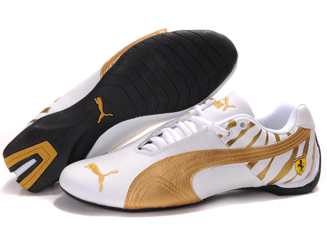 Puma Ferrari Inflection Shoes White/Gold