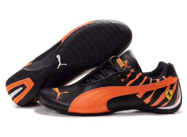Men's Puma Ferrari Inflection Shoes Black/Orange