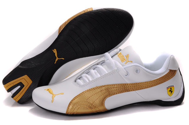 Women's Puma Ferrari Inflection Sneakers White/Gold