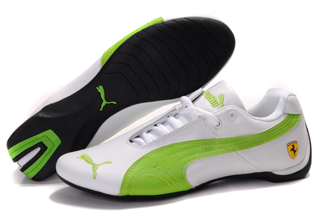 Women's Puma Ferrari Inflection Sneakers White/Green 01