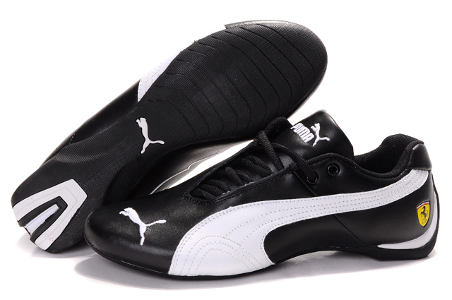 Women's Puma Ferrari Inflection Sneakers Black/White 01