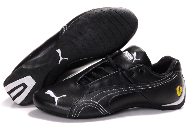 Men's Puma Ferrari Inflection Sneakers Black/White 02