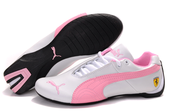 Women's Puma Ferrari Inflection Sneakers White/Pink