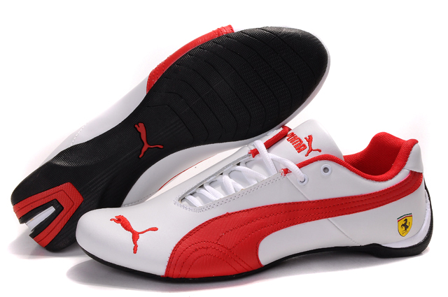 Women's Puma Ferrari Inflection Sneakers White/Red