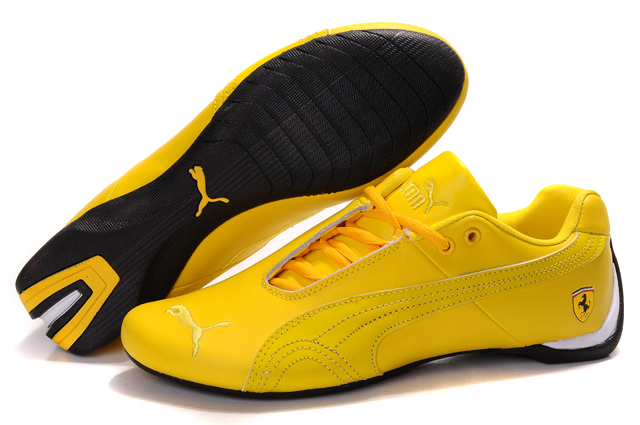 Men's Puma Ferrari Inflection Sneakers Yellow