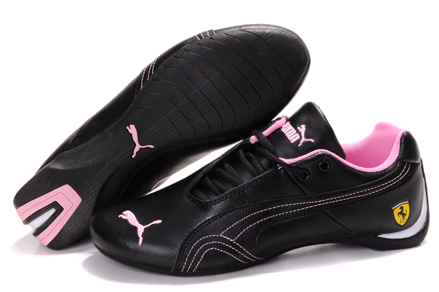 Women's Puma Ferrari Inflection Sneakers Black/Pink 01