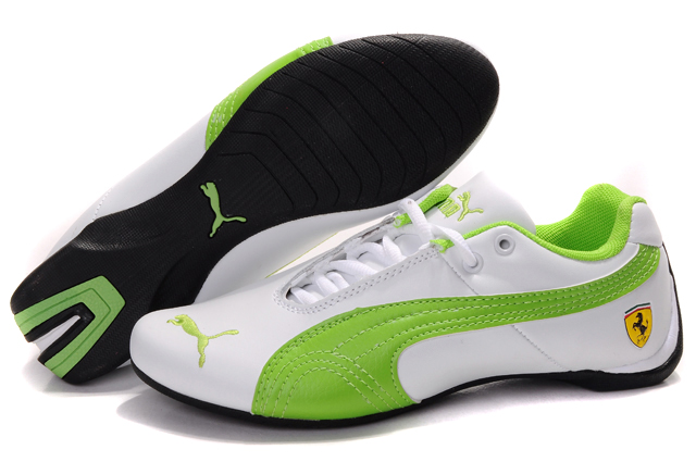 Women's Puma Ferrari Inflection Sneakers White/Green 02