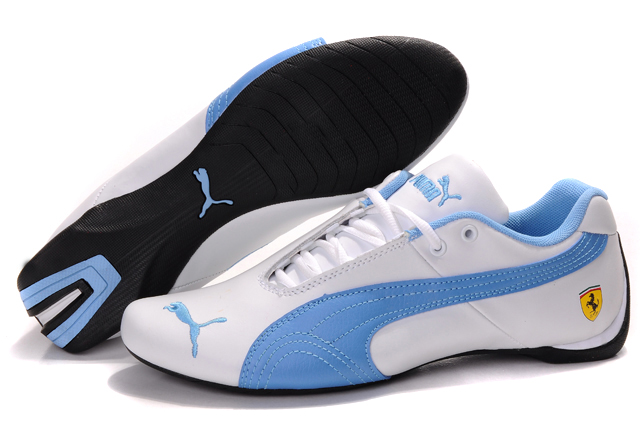 Women's Puma Ferrari Inflection Sneakers White/Blue