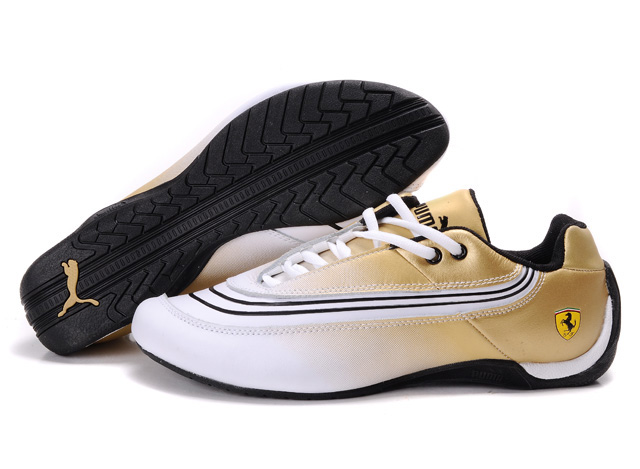 Puma Ferrari Leather Shoes White/Beige/Black