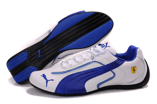 Puma Ferrari Pace Cat II White/Blue