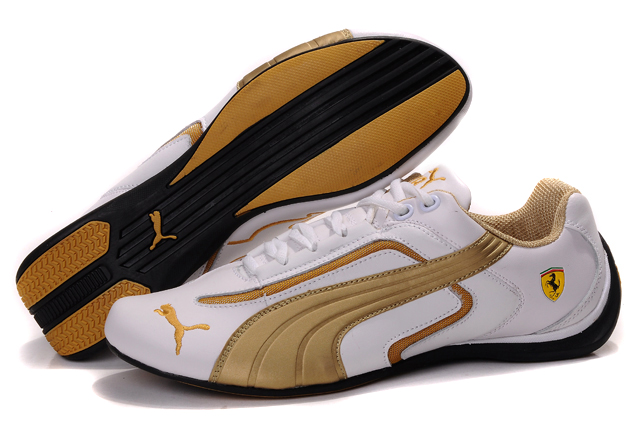 Puma Ferrari Pace Cat II White/Gold