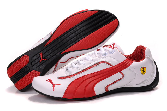 Puma Ferrari Pace Cat II White/Red
