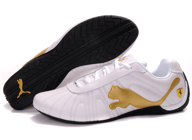 Men's Puma Ferrari Shoes White/Gold