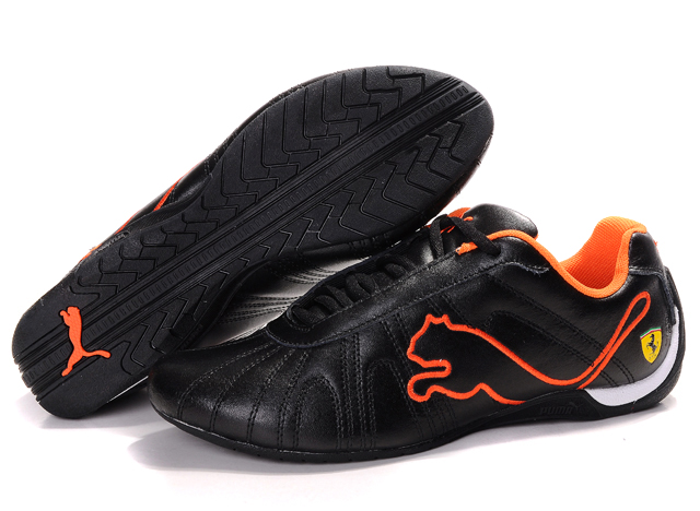 Puma Ferrari Shoes Black/Orange