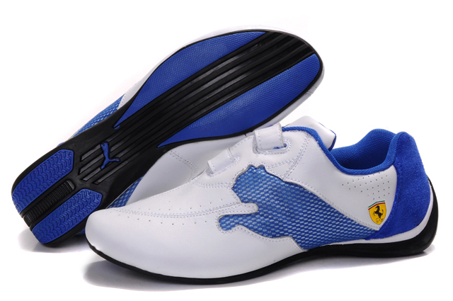 Puma Ferrari Trainers White/Blue
