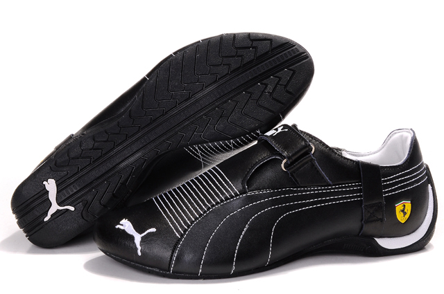 Men's Puma Ferrari Trionfo Shoes Black/White