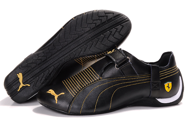 Men's Puma Ferrari Trionfo Shoes Black/Gold