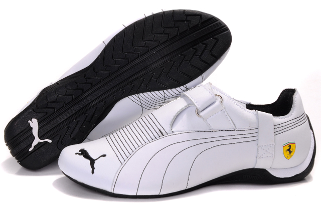 Men's Puma Ferrari Trionfo Shoes White/Black