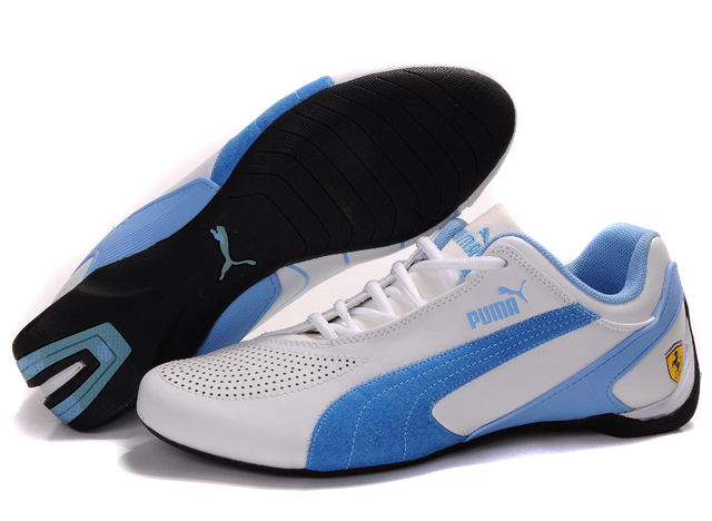 Puma Fluxion II Shoes White/Lightblue