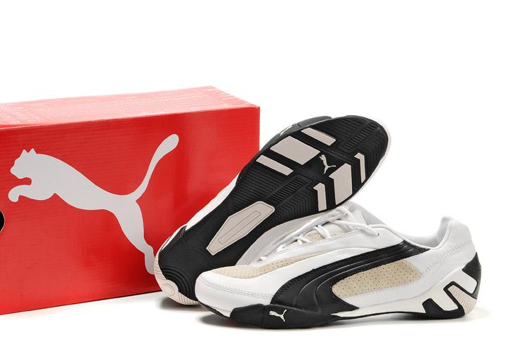 Men's Puma Fluxion II Sneakers White/Black/Beige