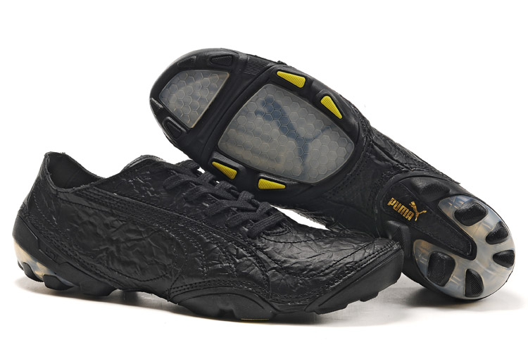 Puma Football Trainers Black/Yellow