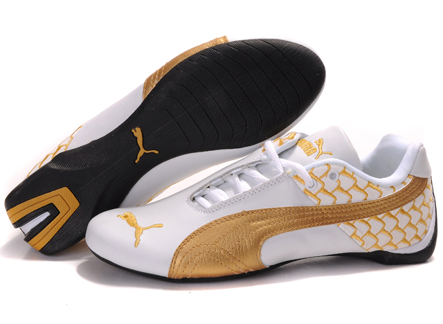 Men's Puma Future Cat Argyle Shoes White/Gold